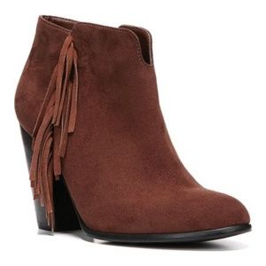 CARLOS SANTANA Tempe Brown Suede Ankle Boots SZ 6